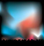 Lights at night vector illustration
