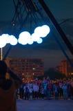 Lights night in Bucharest 2 Stock Photo