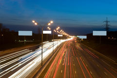 Lights at night on the highway Royalty Free Stock Photos