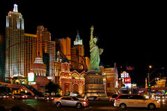Lights of night life of Vegas stock images