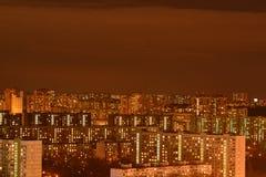 Lights of the night metropolis. Outdoor. Lights of the night metropolis Stock Images