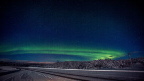 2 lights northern Στοκ Εικόνες