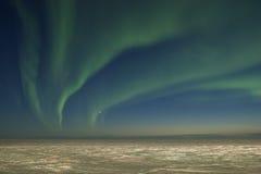 lights northern over tundra στοκ εικόνες