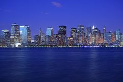Lights of NY just after sunset Royalty Free Stock Photos