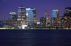Lights of NYC. Just after sunset Royalty Free Stock Image