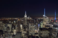 The lights of the NYC. Stock Image