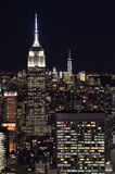 The lights of the NYC. Stock Photos