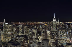 The lights of the NYC. Stock Images