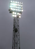 Lights On At Night During The Show In The Stadium Royalty Free Stock Photography