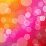 Lights Orange And Pink Background With Bokeh Stock Photo