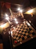Lights out chess royalty free stock photography