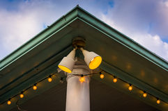 Lights outside a shop in St. Michaels, Maryland. Royalty Free Stock Photos