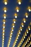 Lights Outside A Theater. Abstract Background Of Lights Outside A Theater With Shallow DOF Royalty Free Stock Photo