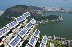 Lights over Rio de Janeiro Stock Image