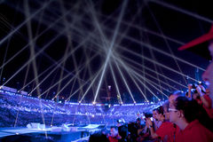Lights over stadium Royalty Free Stock Image