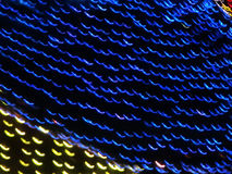 Lights. Patterns, lines of blue and yellow lights Royalty Free Stock Photo