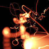lights perspective red Στοκ Φωτογραφία