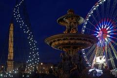 Lights on Place de la Concorde Royalty Free Stock Photos