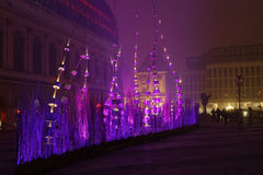 Lights on Place Pradel and the Opera Royalty Free Stock Photography