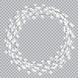 Lights realistic design elements. Garlands decorations. Led neon lamp Stock Photos