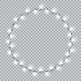 Lights realistic design elements. Garlands decorations. Led neon lamp Stock Photo