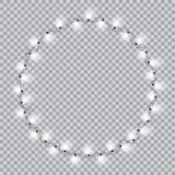 Lights realistic design elements. Stock Photo