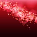 Lights on red background bokeh effect. Vector EPS 10 royalty free illustration