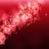 Lights on red background bokeh effect. stock illustration