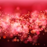 Lights on red background bokeh effect. Stock Photography