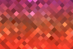 Lights red square pixel mosaic background Stock Image