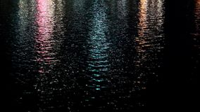 Lights reflect on the water.  royalty free stock image