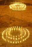 lights reflected in floor Stock Photography