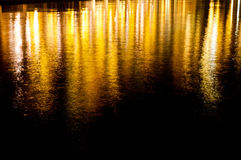 Lights reflection with waves Royalty Free Stock Photos