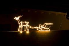 lights reindeer Στοκ εικόνα με δικαίωμα ελεύθερης χρήσης