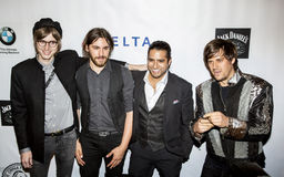 Lights Resolve. American alternative rock group Lights Resolve,arrive on the red carpet for the Friars Foundation gala at the Waldorf Astoria hotel in New York Stock Photography