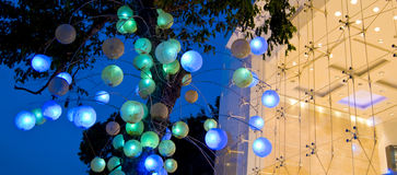 Lights retail art Stock Photo