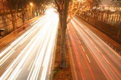 lights road Στοκ φωτογραφία με δικαίωμα ελεύθερης χρήσης