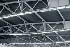 Lights on roof of storehouse Stock Photography