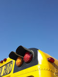 Lights on School Bus Royalty Free Stock Photos