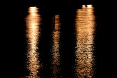 Lights on the sea. In the evening Stock Photo