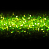 Lights Seamless Line Background, Abstract Blur Bokeh, Green Royalty Free Stock Image