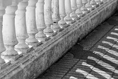 Lights and shadows in a balustrade Royalty Free Stock Photo