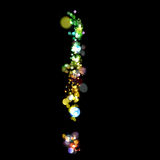 Lights in the shape of exclamation mark Royalty Free Stock Photo