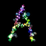 Lights in the shape of letters Royalty Free Stock Photos