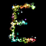 Lights in the shape of letters Stock Image