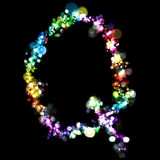 Lights in the shape of letters Stock Images