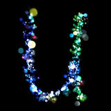Lights in the shape of letters Stock Photography