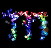 Lights in the shape of letters Royalty Free Stock Images