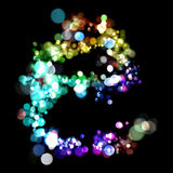 Lights in the shape of letters Royalty Free Stock Image