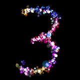 Lights in the shape of numbers Stock Photos